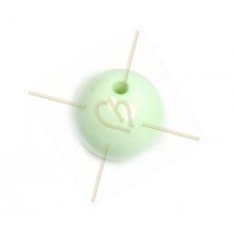 Galastil ronde resine parel 12mm pastel groen