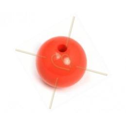 Galastil boule resine ronde 12mm Pastel Corail