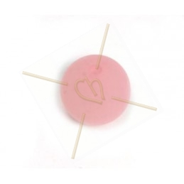 Polaris boule ronde 12mm Rose clair matte