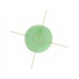 Polaris bol rond 12mm pastel groen mat