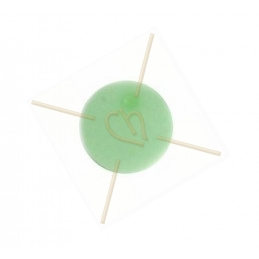 Polaris boule ronde 12mm pastel vert matte