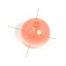 Polaris boule ronde 12mm Rose Peche