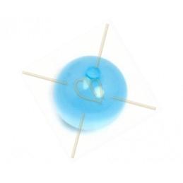 Polaris bol rond 12mm Lichtblauw