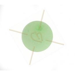Polaris bol rond 14mm pastel groen mat