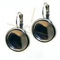 earrings with border for rivoli 12mm