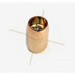 fermoir magnetique acier ronde pour 8mm or rose