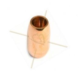fermoir magnetique acier ronde pour 6mm or rose
