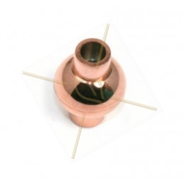 fermoir magnetique acier rond voor 4mm goud - rose goud
