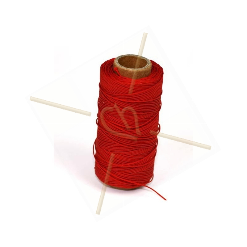 cordon polyester 0.5mm rouge
