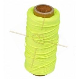 cordon polyester 0.5mm jaune fluo