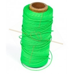 cordon polyester 0.5mm vert fluo
