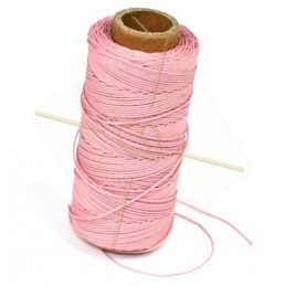 cordon polyester 0.5mm rose