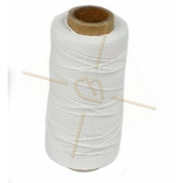 cordon polyester 0.5mm Blanc