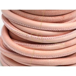 Leather round 6mm lightpink