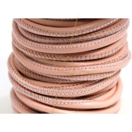 leather round 2.5mm pink pastel