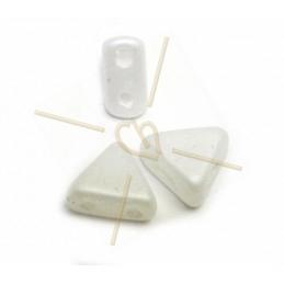 Kheops® Par Puca® perles 6mm Silk mat opaque blanc