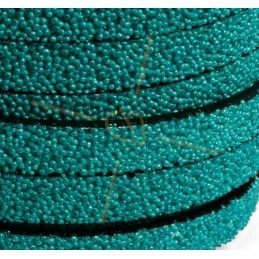 leather flat 10mm caviar turquoise
