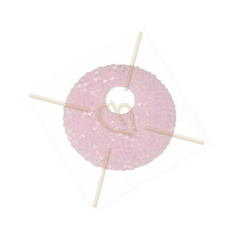 Swarovski Rocks Donut 40mm Rose Water Opal + holder