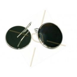 boucles d'oreille pour 24mm ronde