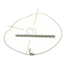 cadena acero 45cm con ciere