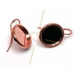 oorbellen rond 15mm met dikke boord