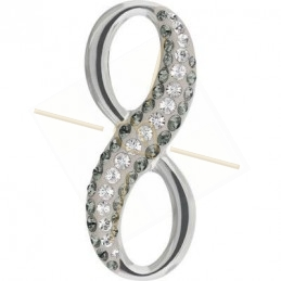 Infinity Becharmed 20mm crystal Silver Night