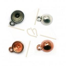pendentif metal pour 1 strass ss24