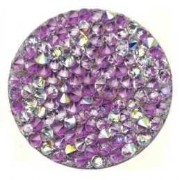 Crystal Rocks 30mm Crystal AB Mauve