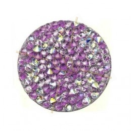 Crystal Rocks 24mm Crystal AB Mauve