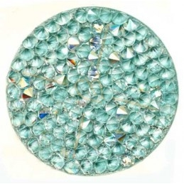 Crystal Rocks 30mm Crystal AB Pastel bleu