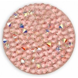Crystal Rocks 30mm Crystal AB light pink