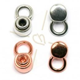 rond element 10mm met ringetje  om te vijzen in leder