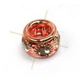 anillo metal 7*10mm con strass