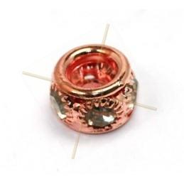 anneau metal 7*10mm avec strass