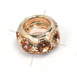 anneau metal 7*12mm avec strass