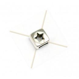 """leerschuiver cube """"ster"""" voor leder 5mm"""