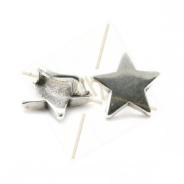 "leather spacer  ""star"" for leather 5mm"
