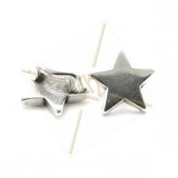 """leerschuiver  """"ster"""" voor leder 5mm"""