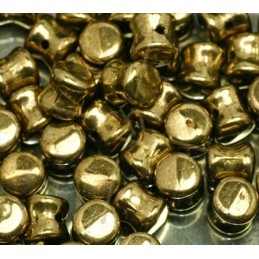 Pellet beads 4*6mm bronze clair