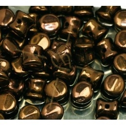 Pellet beads 4*6mm Jet Lustred Chocolat