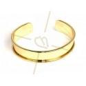 stijve armband metaal 15mm breed goud