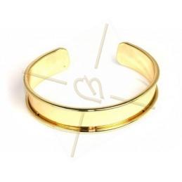bracelet metal rigide 15mm largeur or