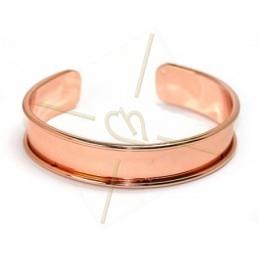 bracelet metal rigide 15mm largeur or rose