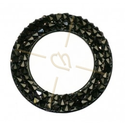 Crystal Rocks Donut 24mm Vintage Rose / Black