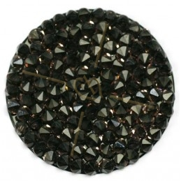 Crystal Rocks 30mm Vintage Rose / Black