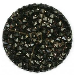 Crystal Rocks 30mm Vintage Rose / Black
