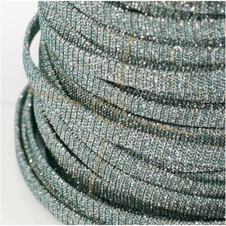 leder plat 5mm glitter effect staal