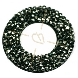 Swarovski Rocks Donut 30mm Metallic Silver