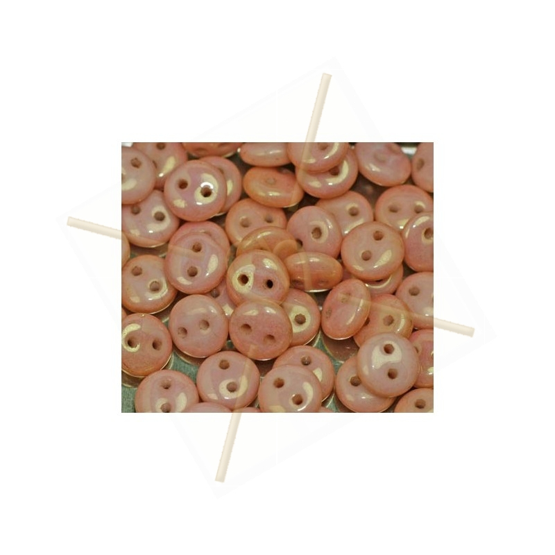 Lentils beads 6*2.5mm 2-holes Lustred Red