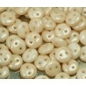 Lentils beads 6*2.5mm 2-trous Lustred Champagne